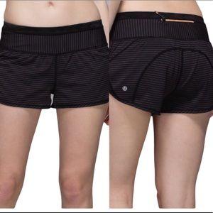 LULULEMON Run for Days Shorts Black Size 6